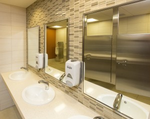 Crossville Ebb and Flow tile used behind sinks