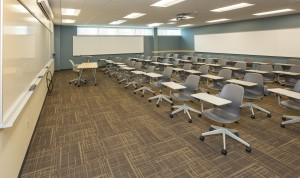 Mannington VCT was used in classrooms