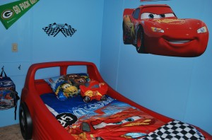 The finished, new bedroom of Carson Murfield