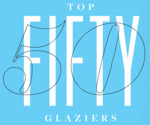 Glass magazine-text graphic
