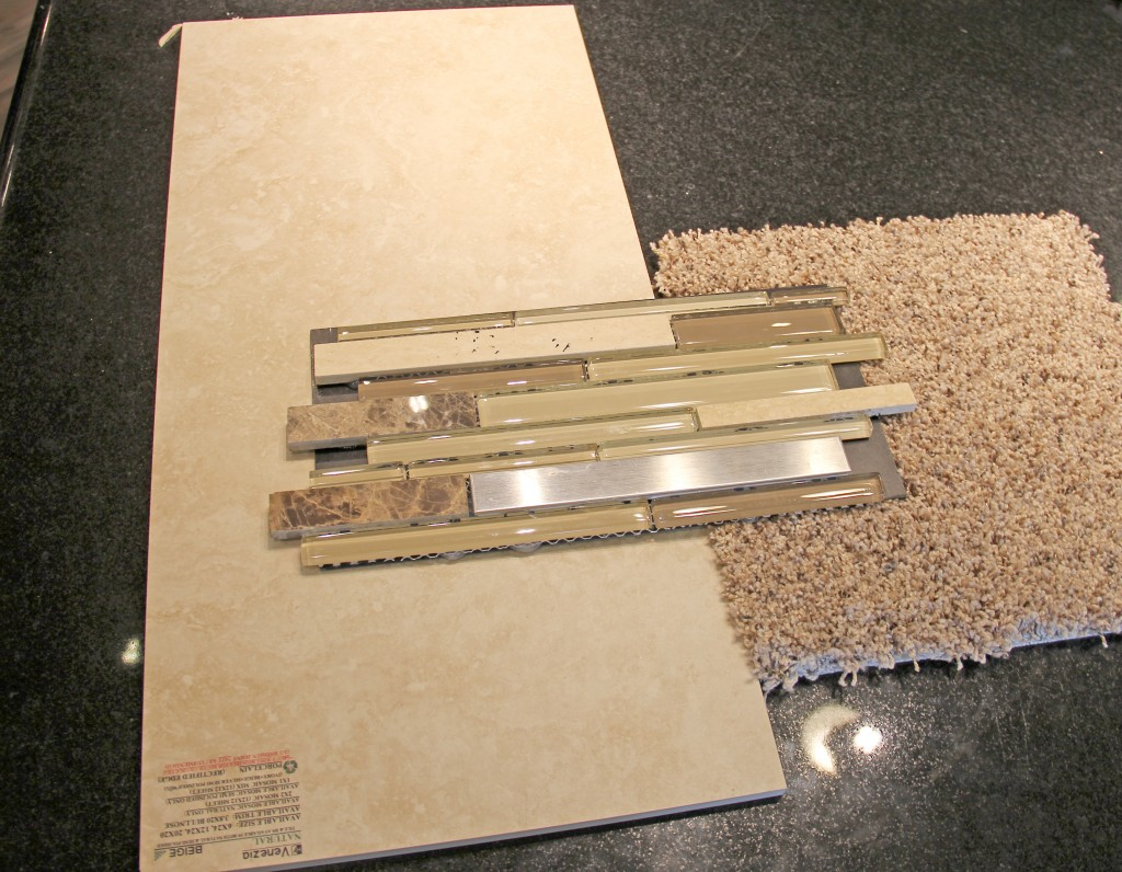 Angora Bliss Woodland Park Mosaic, Memorabilia: Cinnamon Toast (stock, Venzia: Beige 12x24, H.J. Martin and Son