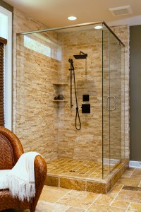 custom shower door, H.J. Martin and Son