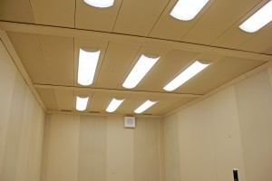 Acoustical ceiling at Bayport H.S. in Green Bay, Wis., H.J. Martin and Son