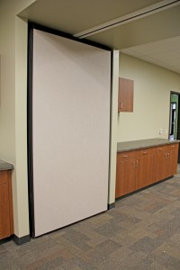Operable wall at Glenbrook Elementary in Pulaski, Wis., H.J. Martin and Son