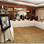 A number of Packers-themed silent auction items were available