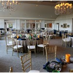The main dining room at Oneida ready for guests
