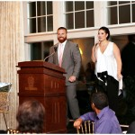 John and LIndsey Kuhn address event attendees