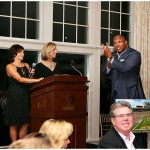 Auctioneer [and former Packers fullback] William Henderson starts the bidding