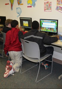 Before shot of children utilizing Education room