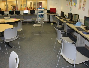 Before shot of Education room