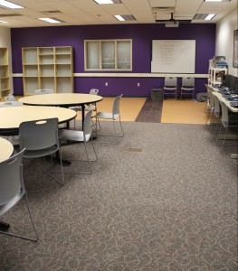 Wide shot of renovated Education room, H.J. Martin and Son