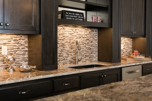 new stone tile kitchen backsplash, H.J. Martin and Son