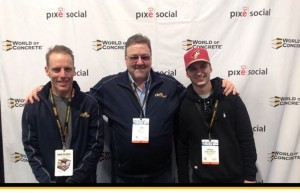 installers pose for a picture at the world of concrete