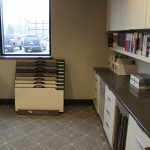 Design books and display tile in the showroom, H.J. Martin and Son