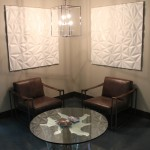Sitting area in the showroom
