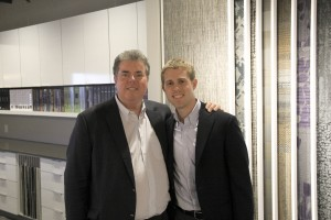 CEO and President Edward Martin with his son, fourth generation David Martin