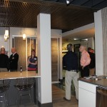 coworkers gather to see the new space, H.J. Martin and Son