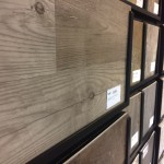 Hardwood swatch on our stock wall, H.J. Martin and Son