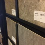 Tile swatch on our stock wall, H.J. Martin and Son