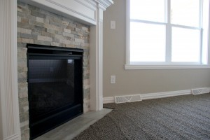 new carpet and stone fireplace, H.J. Martin and Son