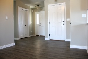 Hardwood floor entry way
