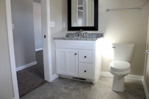 New tiled bathroom floor, H.J. Martin and Son