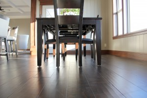new luxury vinyl plank dining room floor, H.J. Martin and Son