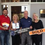 [L-R] Project Manager Bob Gmeiner and Interior Designer Andria Orth of H.J. Martin, and Melodi and Bob McGuire of First Weber Realtors