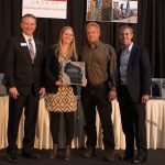 Interior award (L-R) Bob Barker of AGC-WI, joined by Rachel Weber, Grant Gregare and David Martin of H.J. Martin