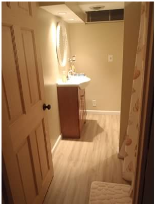 Guest bathroom after, H.J. Martin and Son