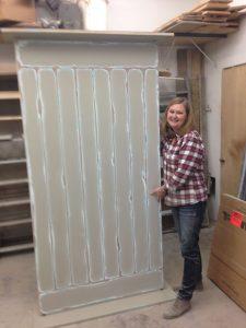 Barn door is ready for hanging!