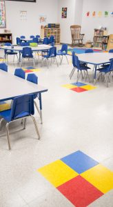 Flooring in Algoma (Wis.) Elementary School, H.J. Martin and Son