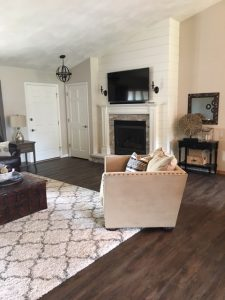 cozy living room after home remodel