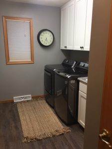 laundry room after home remodel