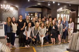 showroom tour, interior designers, students, H.J. Martin and Son