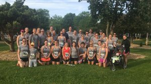 employees participate in the annual bellin run in Green Bay, H.J. Martin and Son