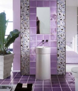ultra violet purple bathroom tile