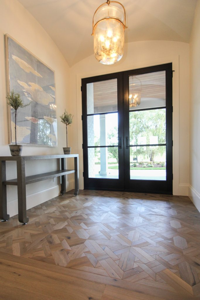 hardwood design entryway