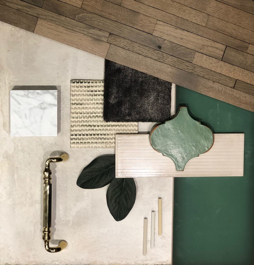 hardwood and tile flooring samples