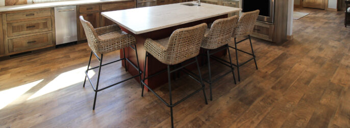 Kitchen with Luxury Vinyl Plank Wood-Look Flooring